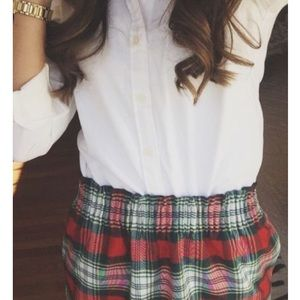 J Crew plaid skirt
